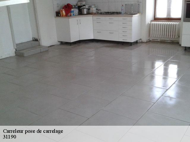 Pose de carrelage  31190